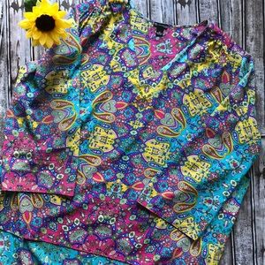 New Directions turquoise paisley tunic